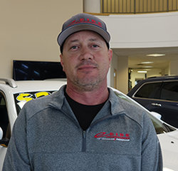 Recon Manager Scott Stevens in Service at Eide Chrysler