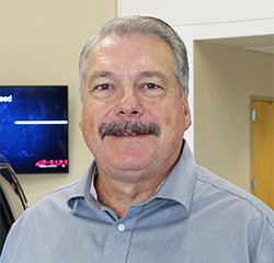 Service Department Manager Tony Bosch in Service at Eide Chrysler