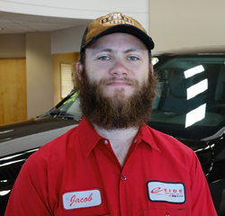 Technician Jacob Vigesaa in Service at Eide Chrysler