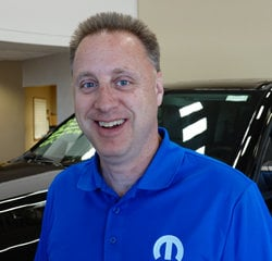 Parts Manager Steve Huber in Parts at Eide Chrysler
