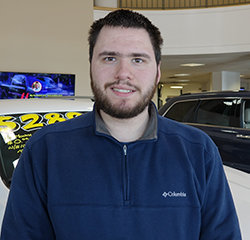 Automotive Detailer Cody Wentz in Service at Eide Chrysler