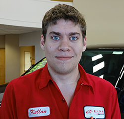 Accessories TECHNICIAN Kellan Staebell in Service at Eide Chrysler