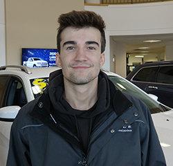 Automotive Detailer Andrew Wittkowski in Service at Eide Chrysler
