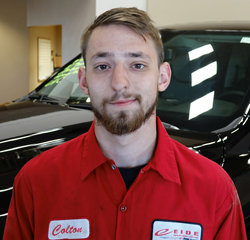 TECHNICIAN Colton Wald in Service at Eide Chrysler