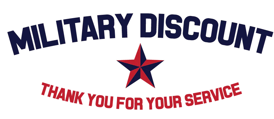 Coupon for Military Discount 10% off all services for any active duty, retired, or prior service military personnel.