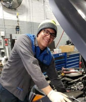 Technician Jose Armas in Service at Garavel Subaru