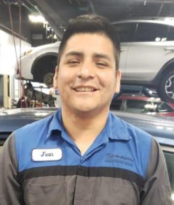 Technician Jose Irribarren in Service at Garavel Subaru