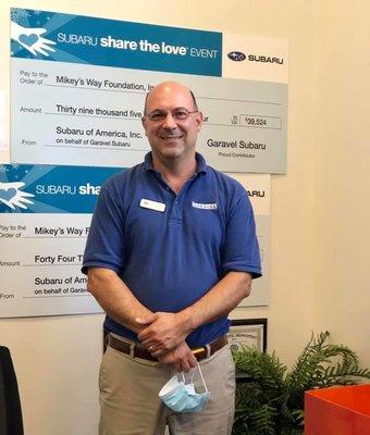 Service Manager Tony Cornelio in Service at Garavel Subaru