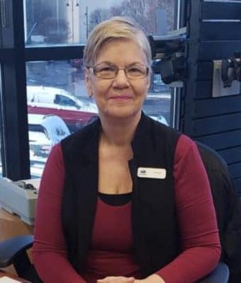 Receptionist Valerie Clark in Sales at Garavel Subaru
