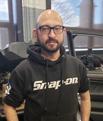 Technician James Restrepo in Service at Garavel Subaru