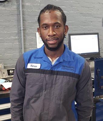 Technician Venus Monregard in Service at Garavel Subaru