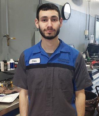 Technician John Jaser in Service at Garavel Subaru