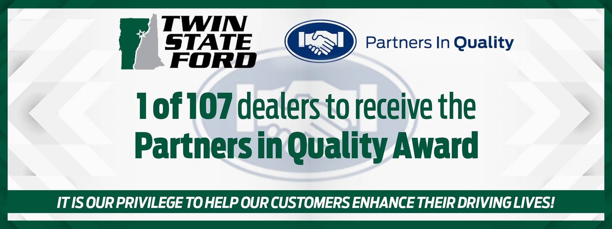 Ford Partners in Quality award