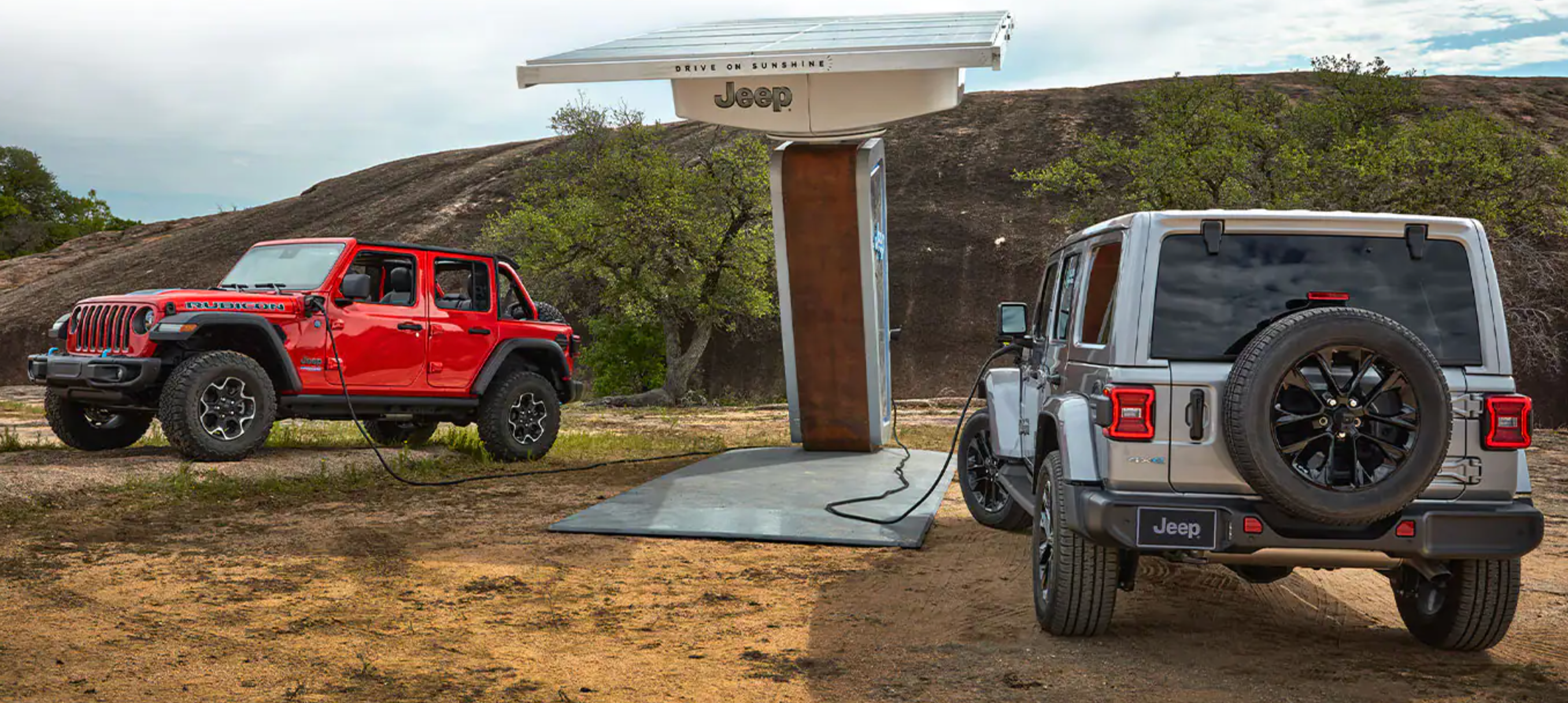 The new 2021 Jeep Wrangler 4xe charging