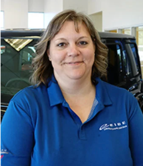 Parts manager Gayle at Pine City
