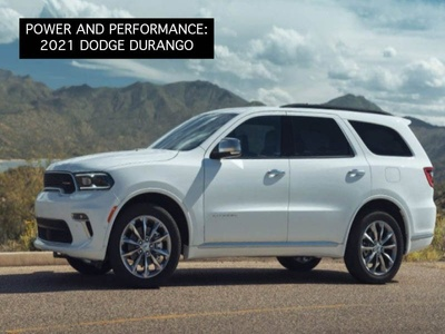 The new 2021 Dodge Durango in the mountains