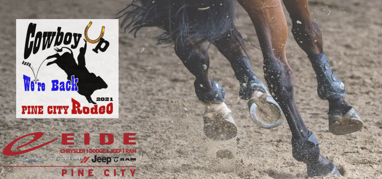 Eide Pine City sponsors this year's returning local rodeo.