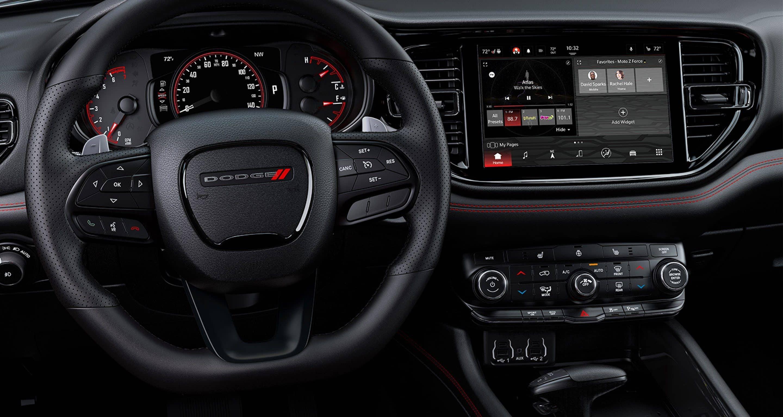 The interior of the new 2021 Dodge Durango