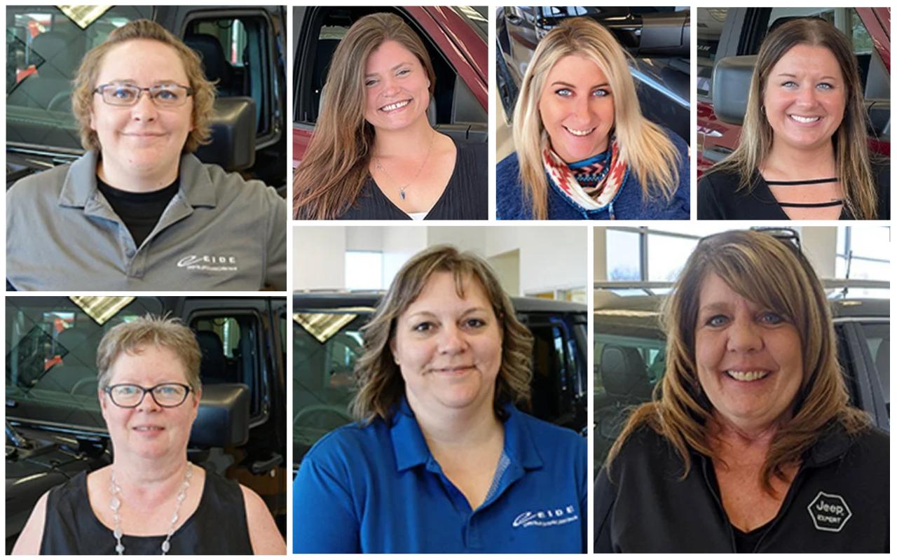 The ladies leading Eide Chrysler Pine City.