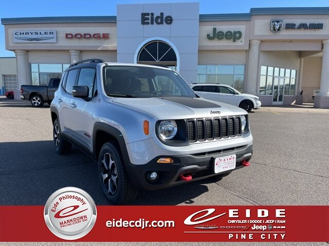Lease this 2021, Silver, Jeep, Renegade, Trailhawk