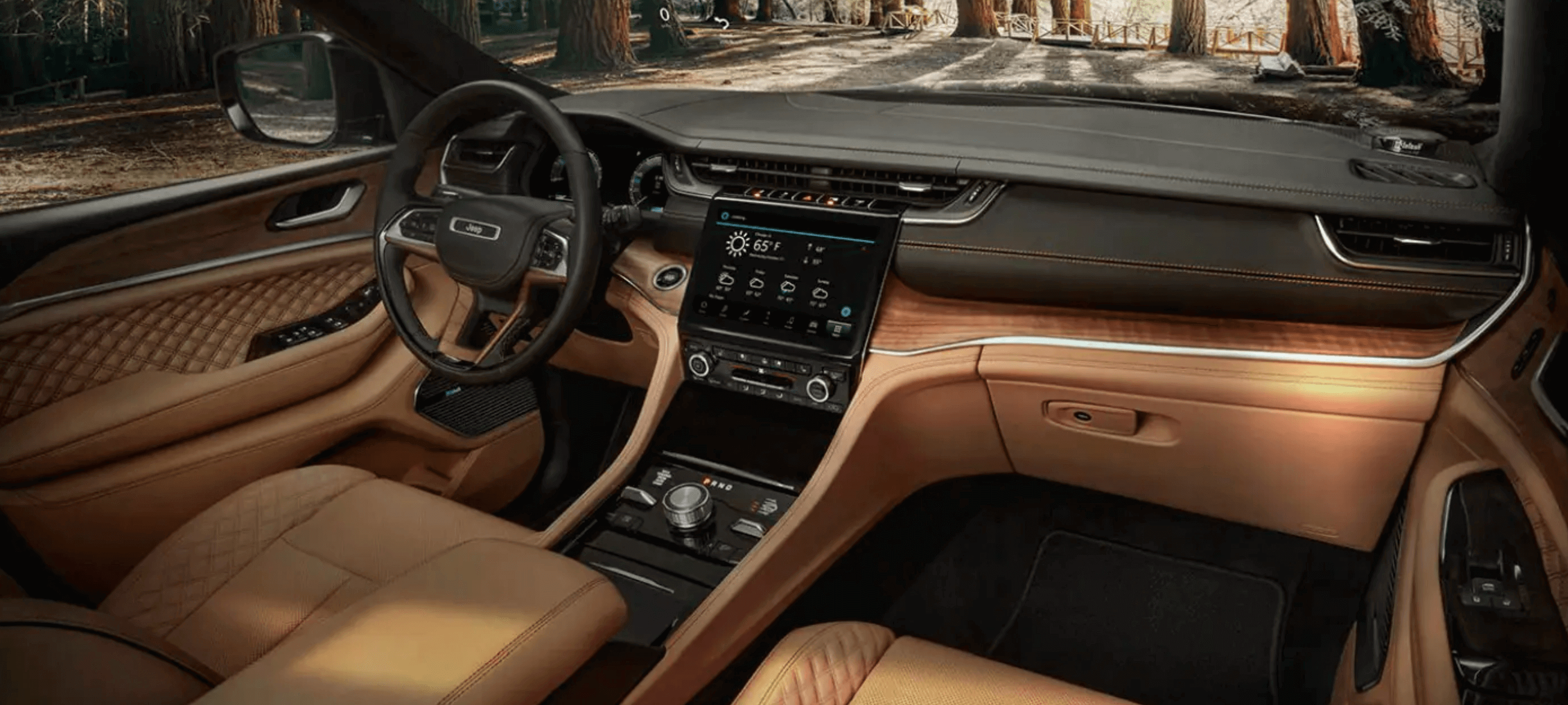 Inside of the new 2021 Jeep Grand Cherokee L
