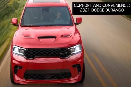 The new 2021 Dodge Durango on a Bismarck road