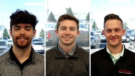 Eide's Delivery Coordinators: Race Hetle, Weston Miller, and Chase Backer