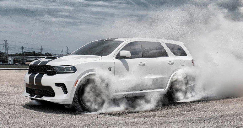 2021 Dodge Durango kicking up dust