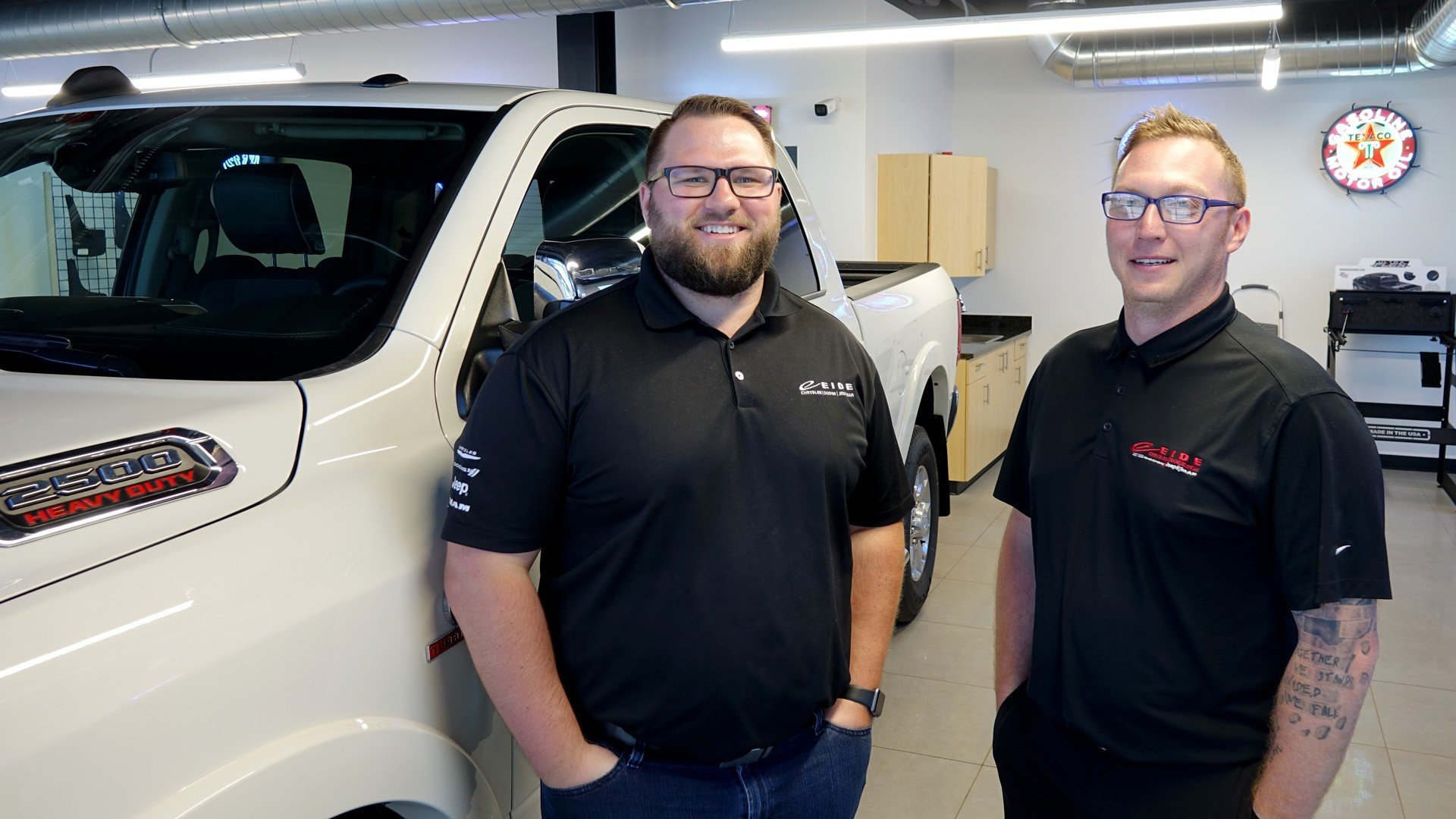 General Manager Don Pask and Business Manager Justin Hutslar