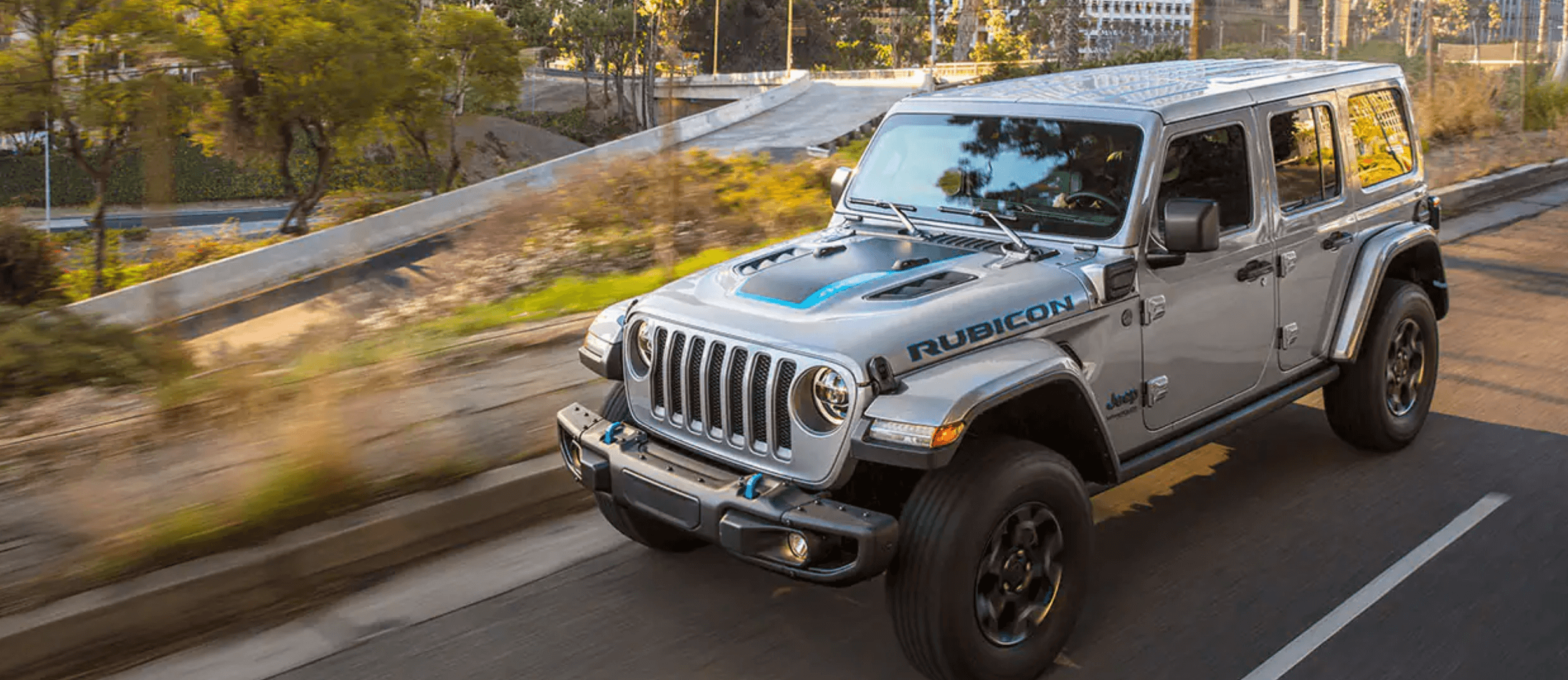 The new 2021 Jeep Wrangler 4XE driving in Bismarck