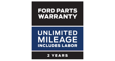 FORD PARTS WARRANTY: TWO YEARS. UNLIMITED MILEAGE. INCLUDES LABOR.**