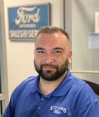 Service Advisor Ed Jeszka in Service at Stivers Ford of Birmingham