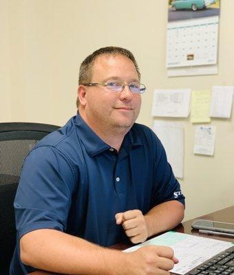 Collision Center Manager Matt Kornegay in Collision Center at Stivers Ford of Birmingham