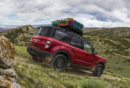 The new 2021 Ford Bronco Sport on the side of a mountain.