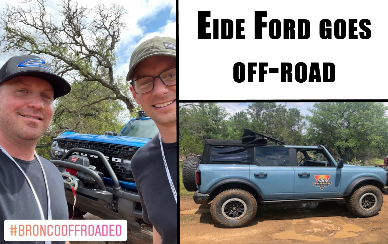 The new 2021 Ford Bronco on the Off-Road trails.