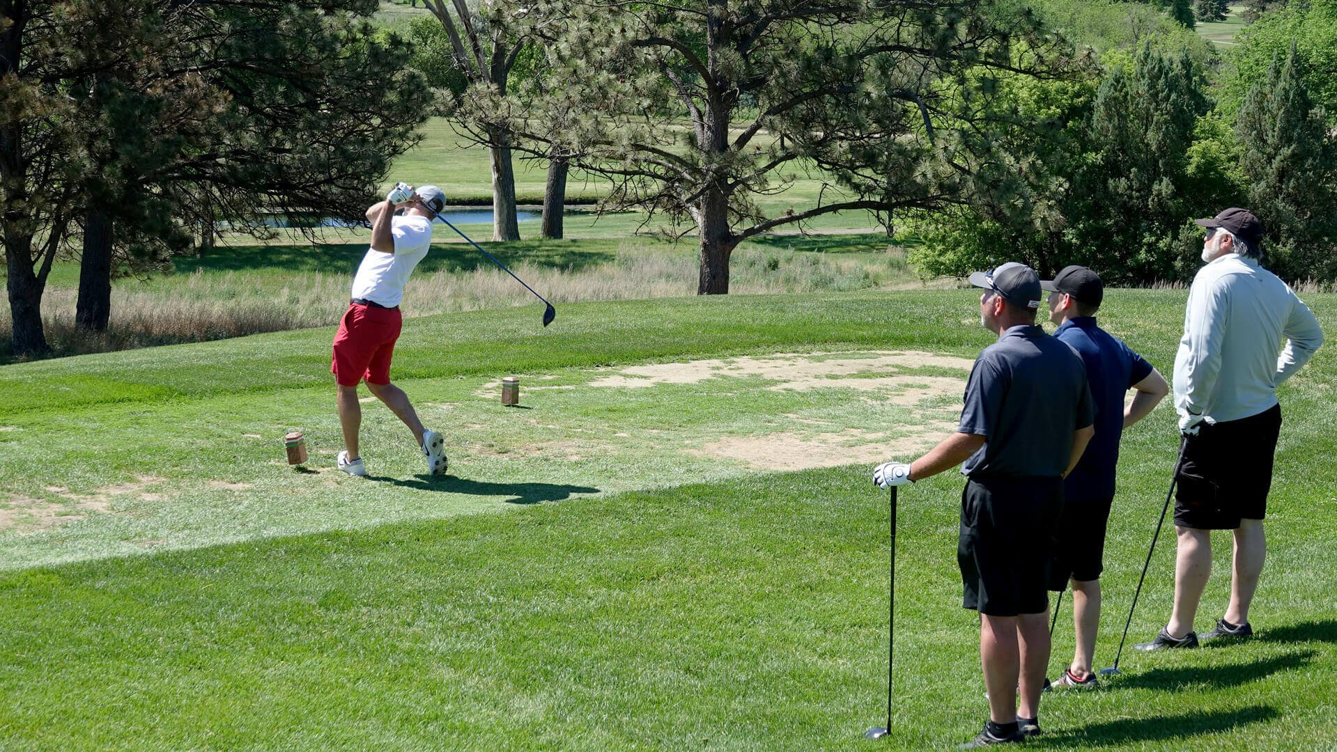 Our Eide Ford team taking a swing at the 2021 Golf Scramble Chamber event in Bismarck.