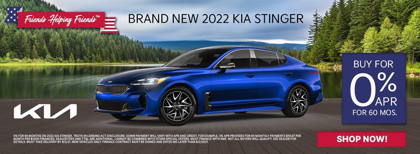 Special offer on 2022 Kia Stinger 2022 Kia Stinger