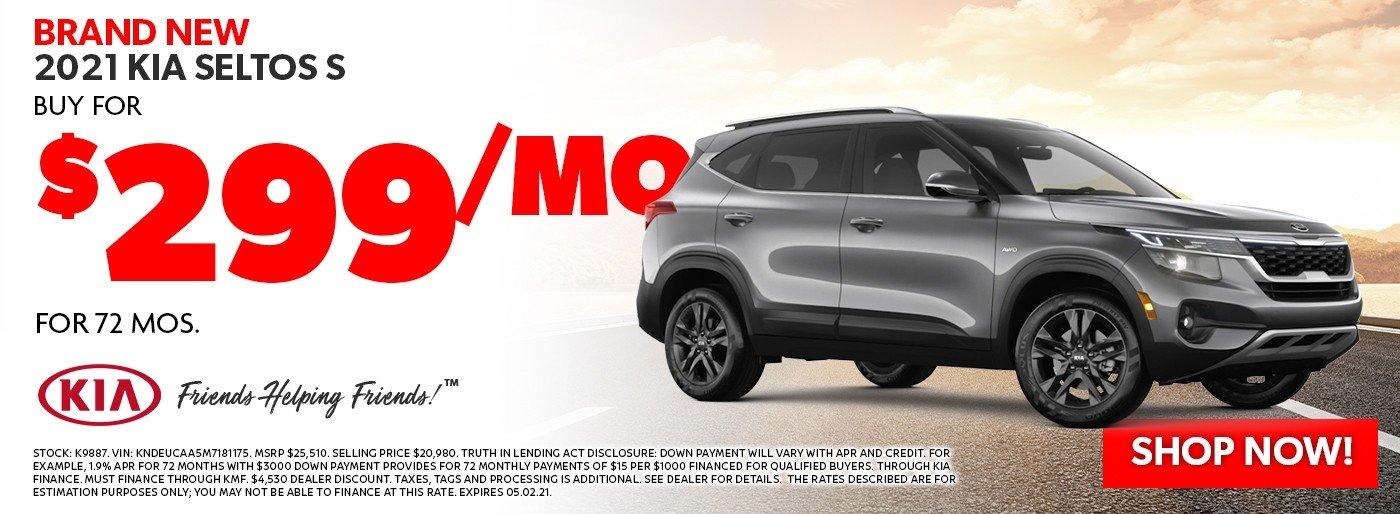 Special offer on 2021 Kia Seltos 2021 Kia Seltos S