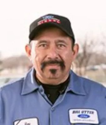 Collision Technician Reyes Sanchez in Collision at Bill Utter Ford
