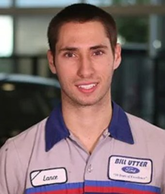 Service Technician Lance Benfield in Service at Bill Utter Ford