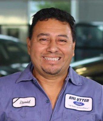 Collision Technician David Guzman in Collision at Bill Utter Ford