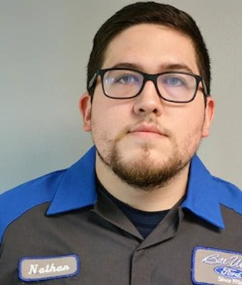 Service Technician Nathan Gonzalez in Service at Bill Utter Ford