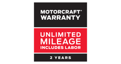 MOTORCRAFT® WARRANTY: TWO YEARS. UNLIMITED MILEAGE. INCLUDES LABOR.**