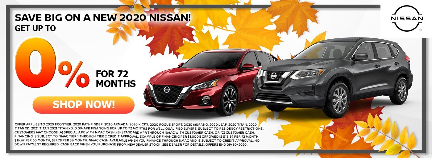 Special offer on 2020 Nissan Sentra Save Big On a New 2020 NIsaan!