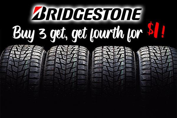 Bridgestone Tires Buy 3, Get the 4th for $1