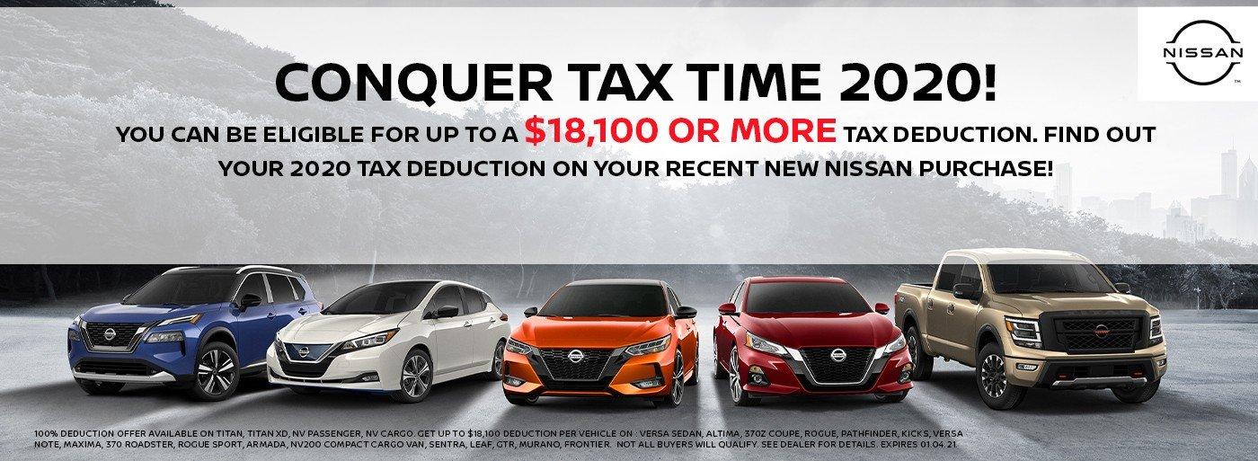Nissan Tax Time Deductions at Hawkinson Nissan