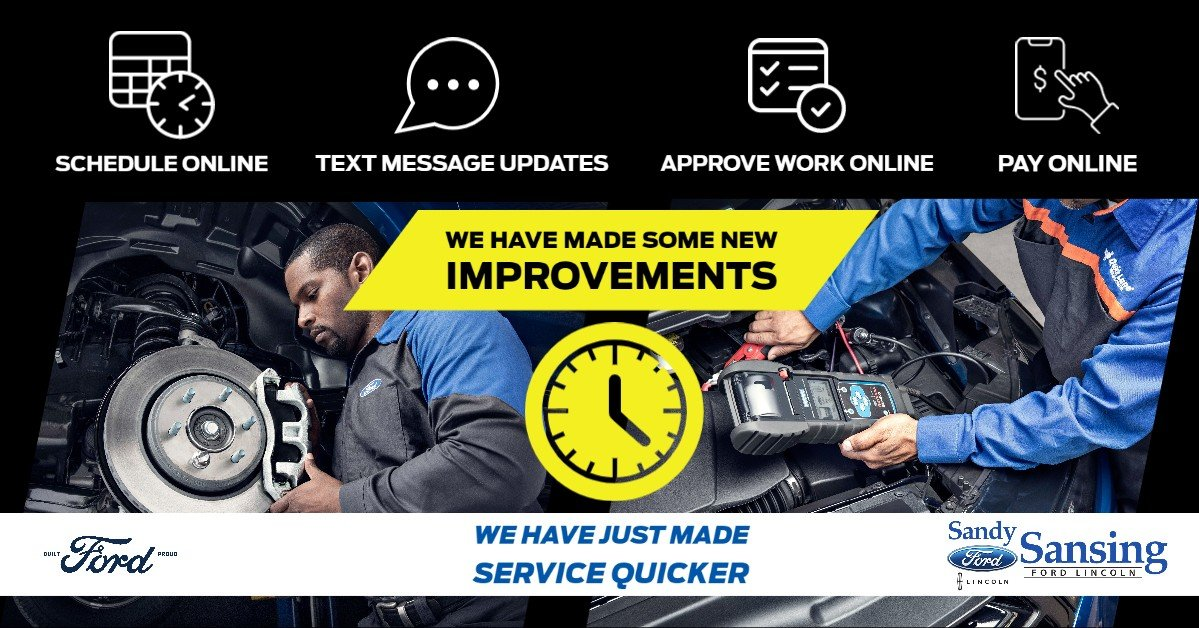 service your vehicle at sandy sansing ford lincoln