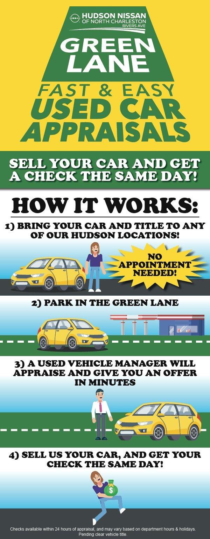 Green Lane Used Car Appraisal at Hudson Nissan of North Charleston