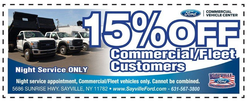 commercial/fleet discount