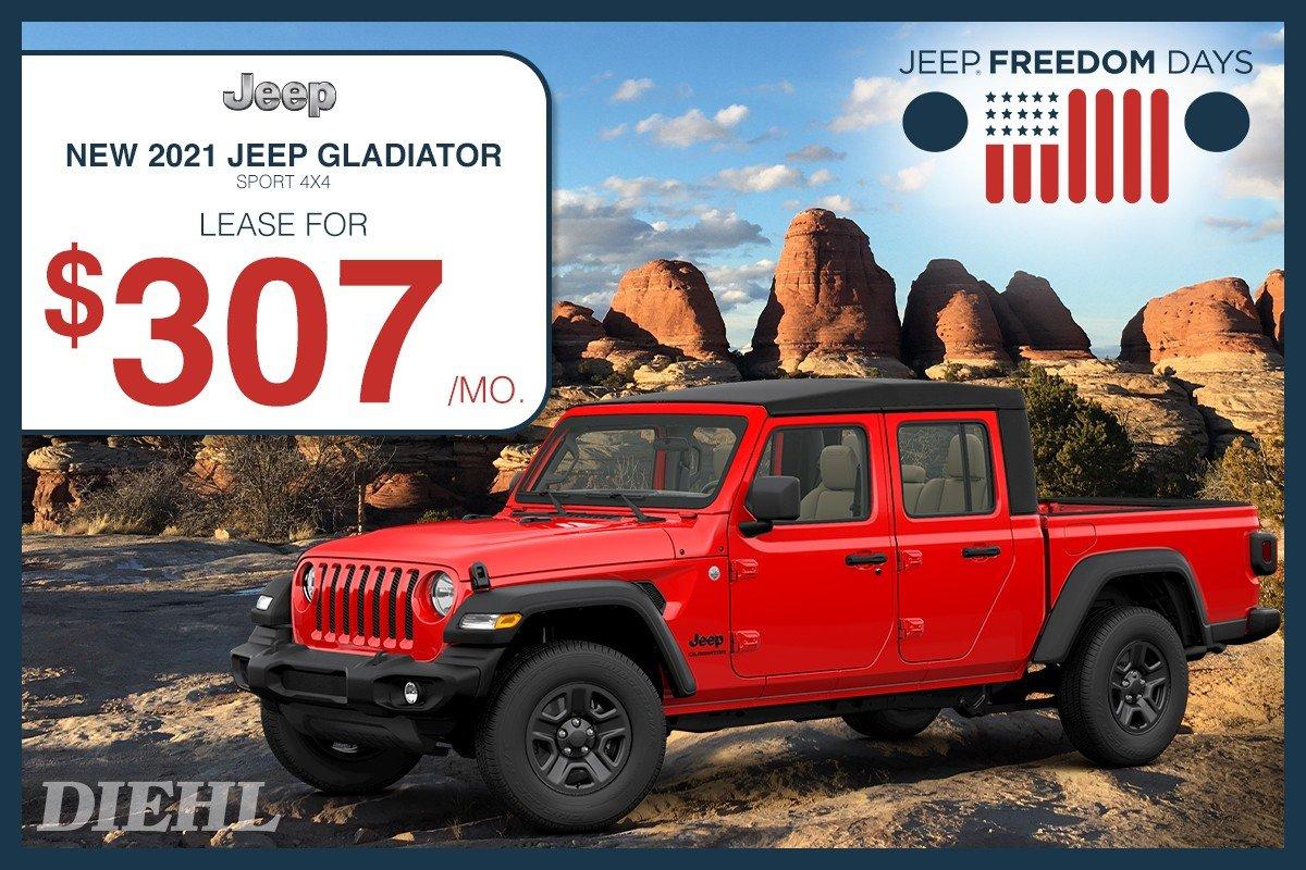 Special offer on 2021 Jeep Gladiator 2021 GLADIATOR
